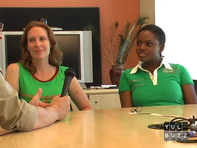 Marie-Lyse Paquin et Katheline Jean-Pierre en entrevue
